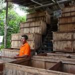 Infrastructures de fermentation des fèves de cacao - San Martin (Pérou)